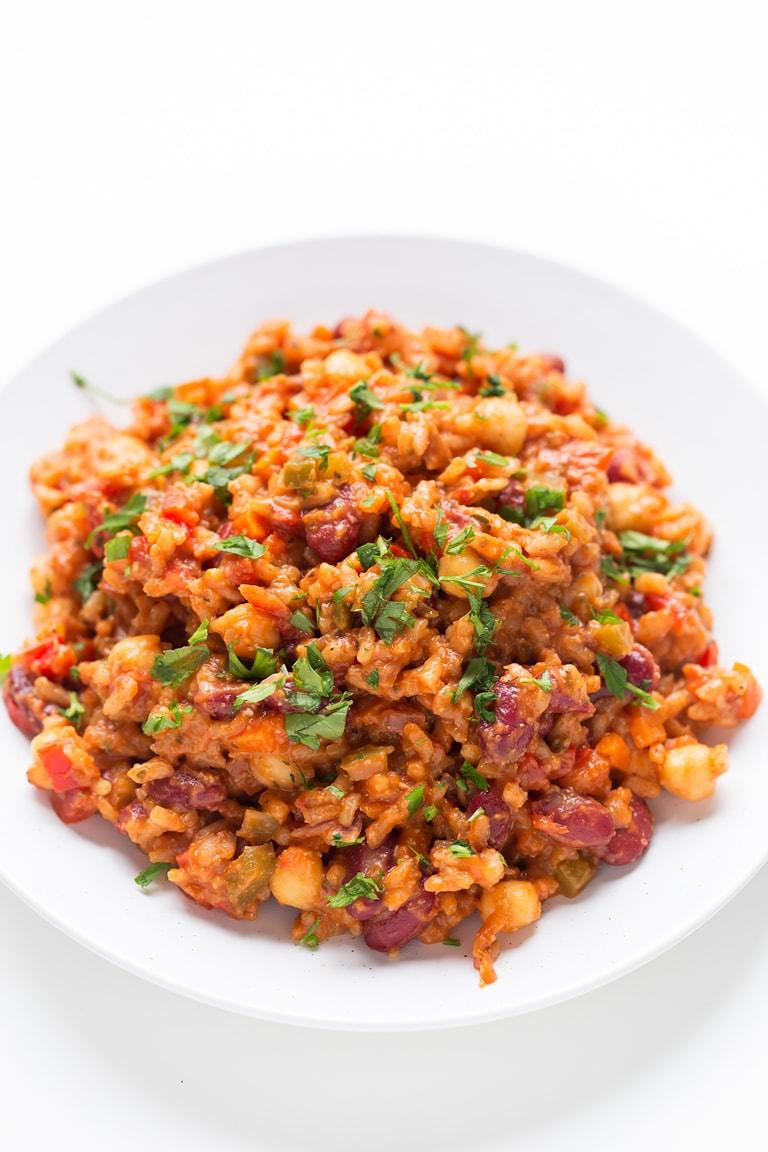 Jambalaya (vegan sausage)