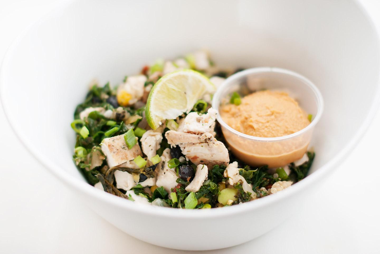 Kale and Quinoa Hummus Bowl