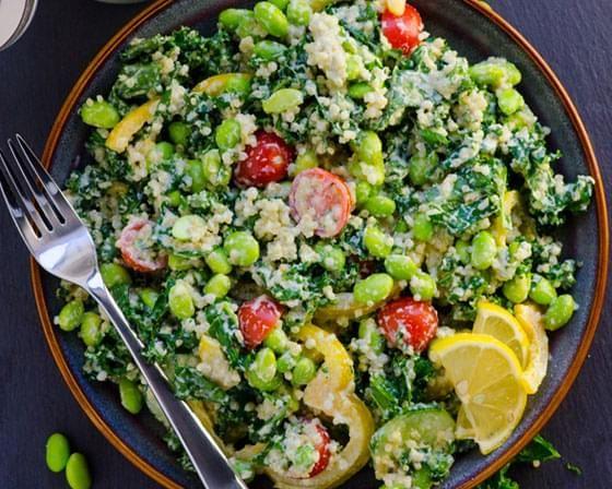 Kale and Quinoa Hummus Bowl (Vegan)