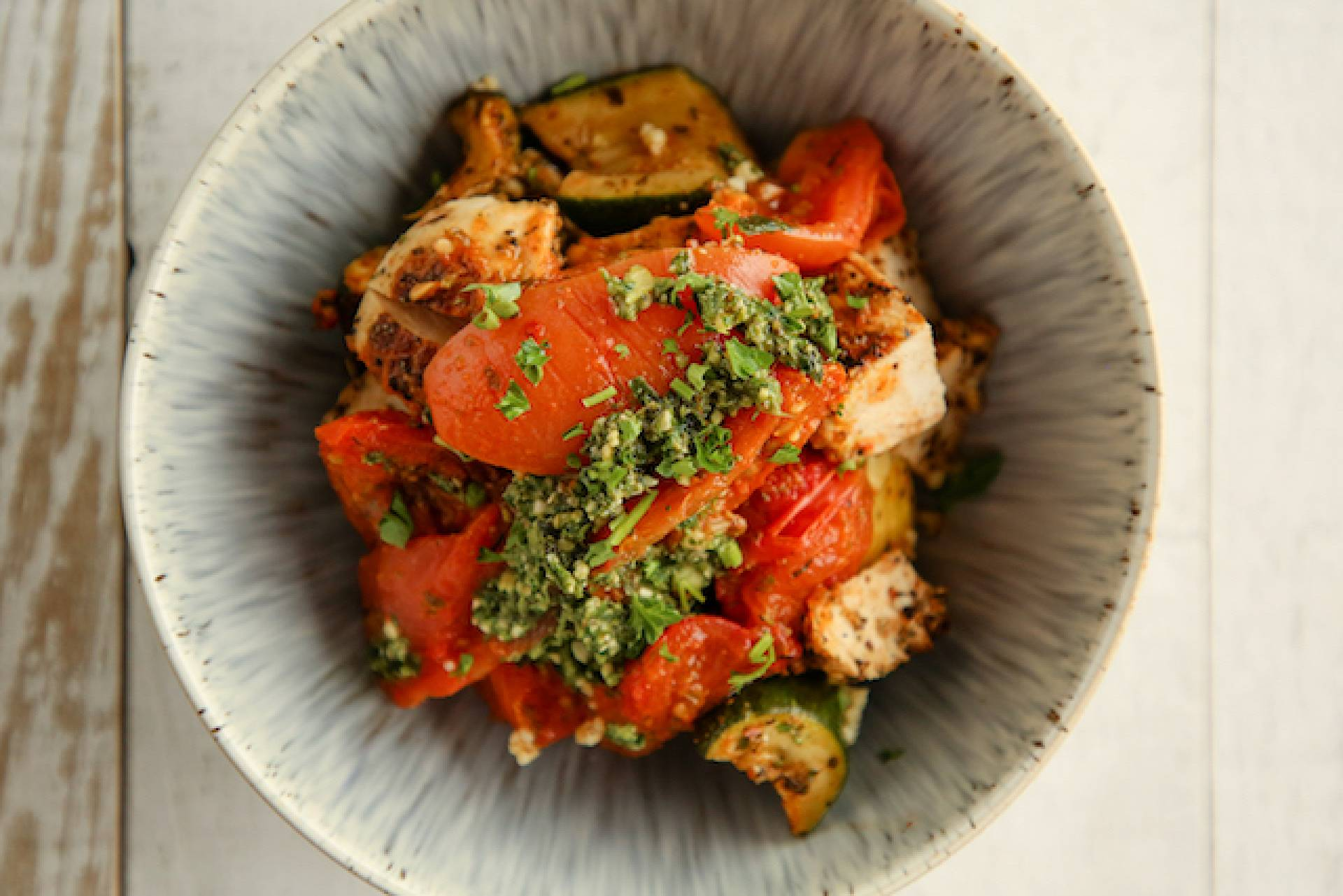 Pesto  Chicken Bowl (Low Carb)