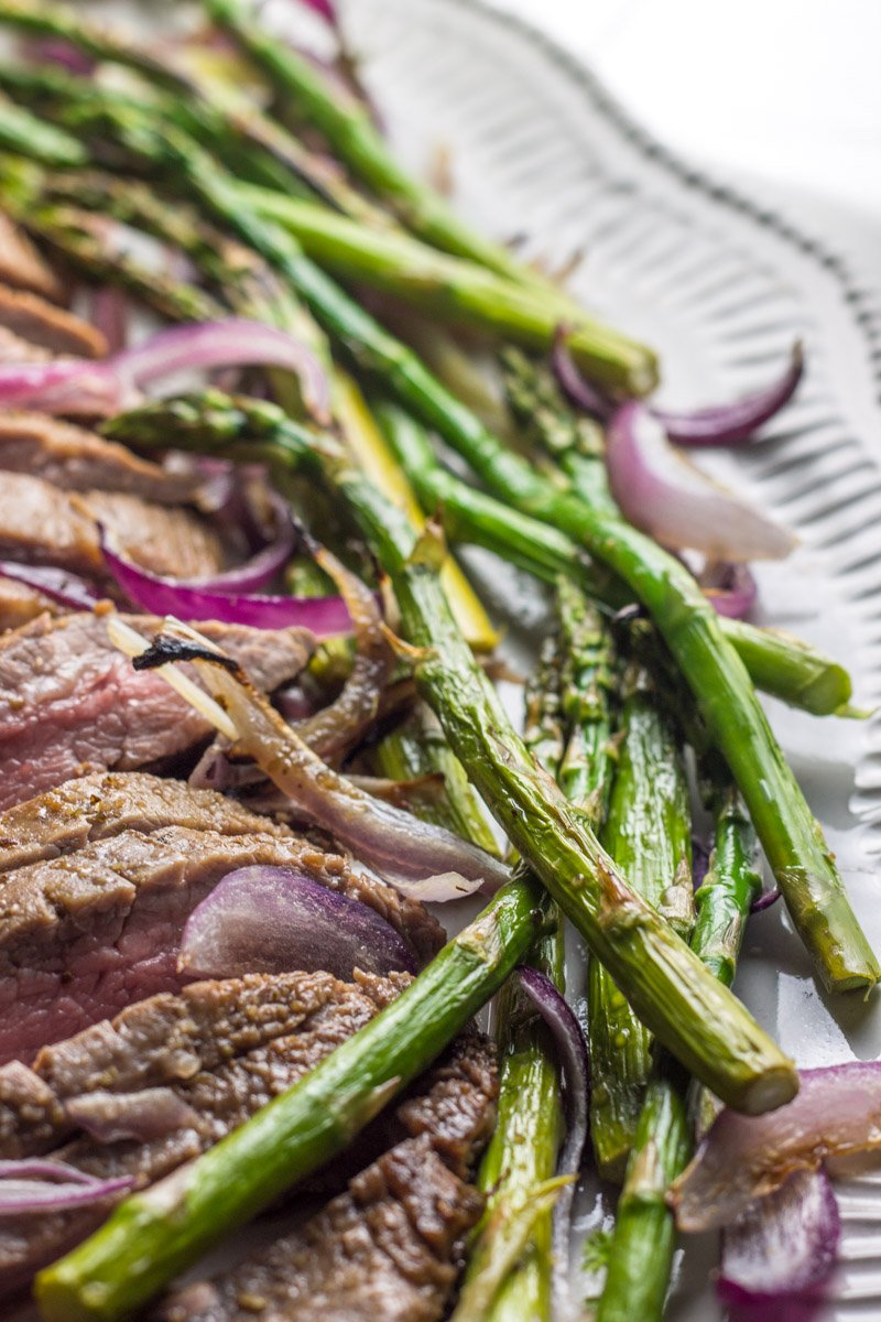Flank with Asparagus and Turnip Mash (Low Carb)