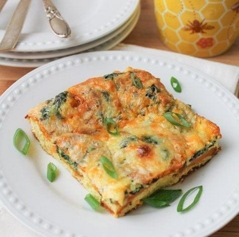 Spinach and Sweet Potato Egg Bake