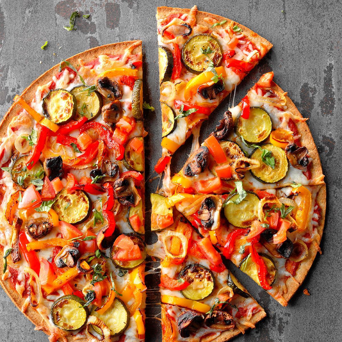 BBQ Veggie Cauliflower Crust Pizza