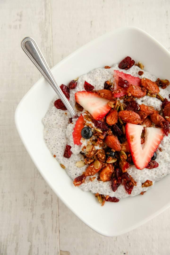 Chia Pudding Fresh Berry Parfait