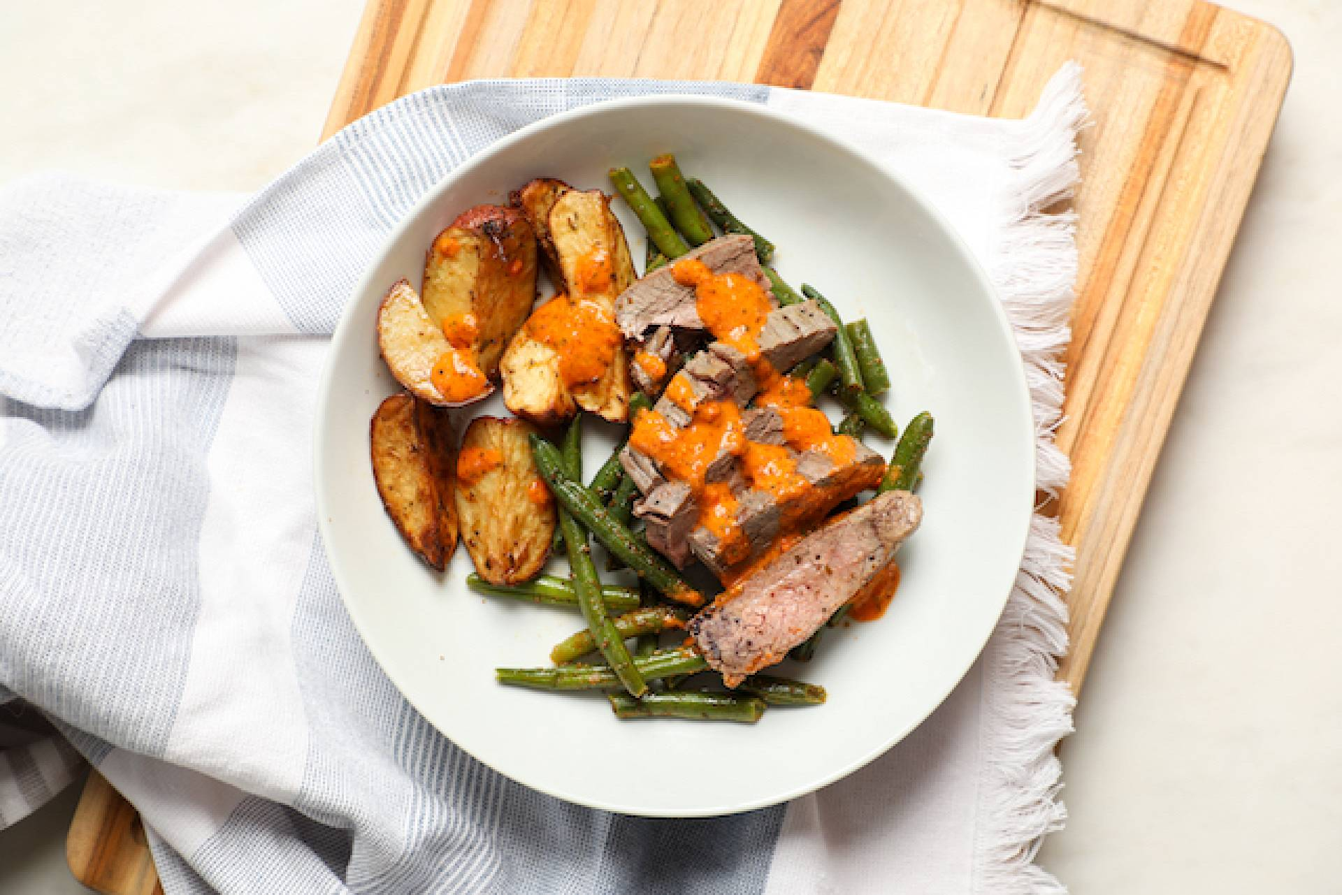 Flank With Green Beans