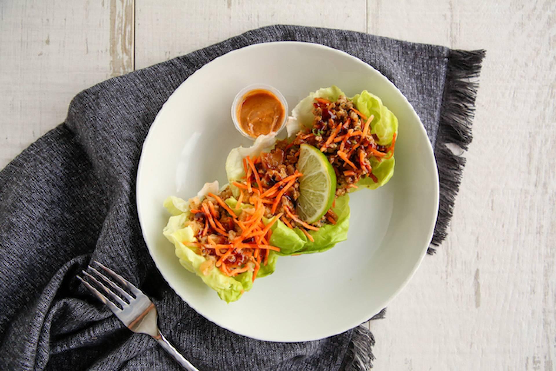 Thai Chicken Lettuce Wrap (Low Carb)