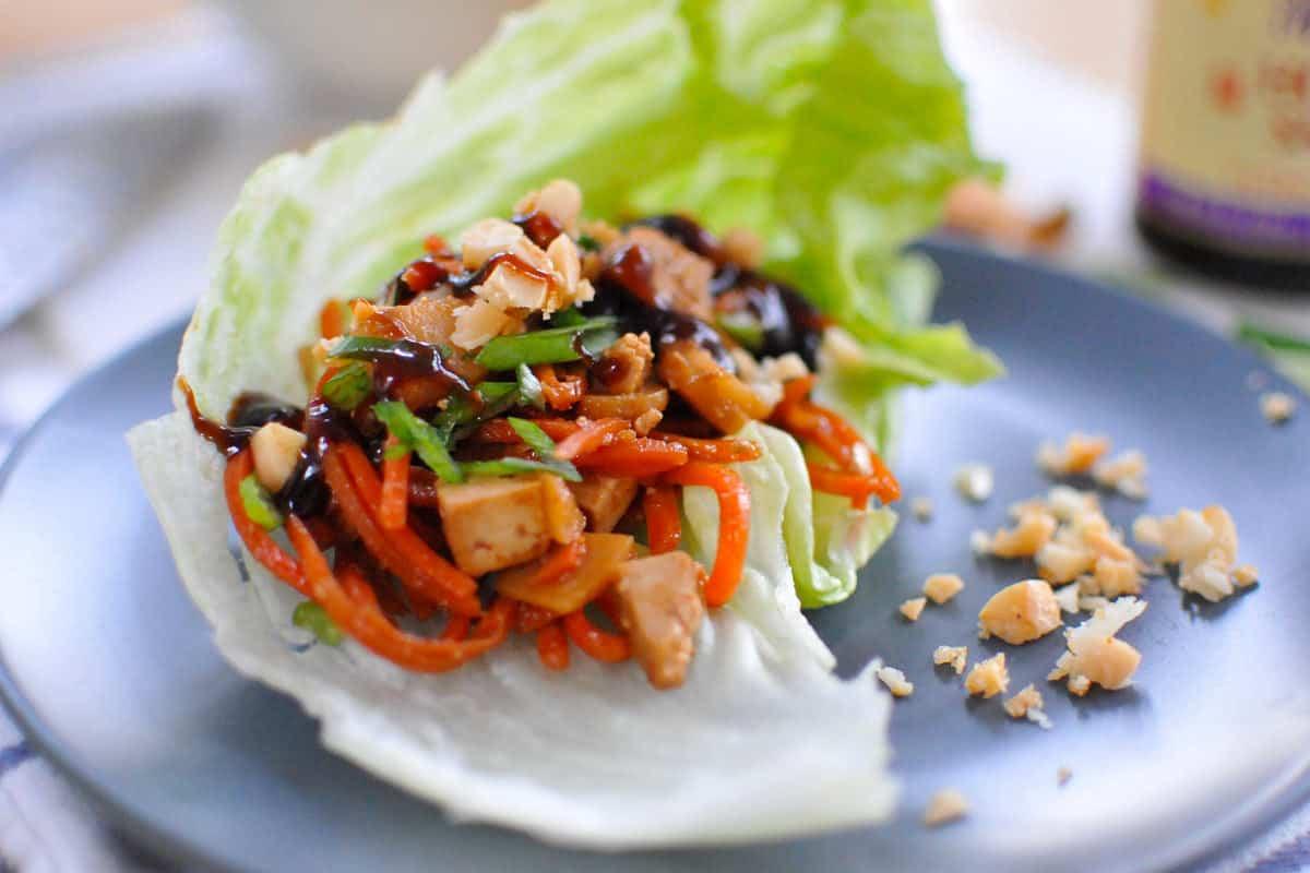 Thai Tofu Lettuce Wrap (Vegan)
